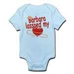 Barbara Lassoed My Heart Infant Bodysuit