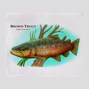 Brown Trout Throw Blanket