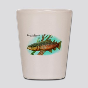 Brown Trout Shot Glass
