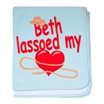 Beth Lassoed My Heart baby blanket