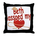 Beth Lassoed My Heart Throw Pillow