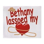 Bethany Lassoed My Heart Throw Blanket