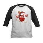 Betty Lassoed My Heart Kids Baseball Jersey