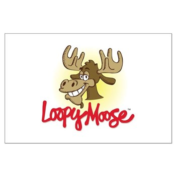 Loopy Moose Large Poster