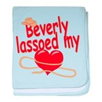 Beverly Lassoed My Heart baby blanket