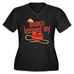 Bianca Lassoed My Heart Women's Plus Size V-Neck D