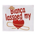 Bianca Lassoed My Heart Throw Blanket