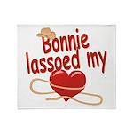 Bonnie Lassoed My Heart Throw Blanket