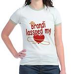 Brandi Lassoed My Heart Jr. Ringer T-Shirt