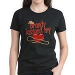 Brandy Lassoed My Heart Women's Dark T-Shirt