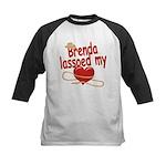 Brenda Lassoed My Heart Kids Baseball Jersey