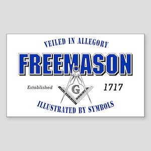Masonic Collegiate Rectangle Sticker
