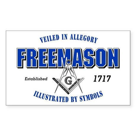 Masonic Collegiate Rectangle Sticker