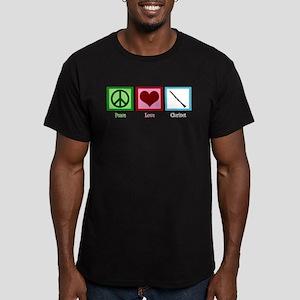 Peace Love Clarinet Men's Fitted T-Shirt (dark)