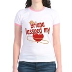 Briana Lassoed My Heart Jr. Ringer T-Shirt