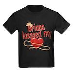 Briana Lassoed My Heart Kids Dark T-Shirt