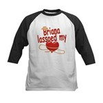 Briana Lassoed My Heart Kids Baseball Jersey