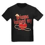 Brianna Lassoed My Heart Kids Dark T-Shirt
