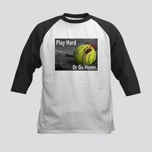 PLAY HARD OR GO HOME Kids Baseball Jersey