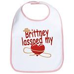 Brittney Lassoed My Heart Bib