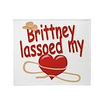 Brittney Lassoed My Heart Throw Blanket