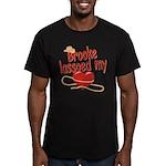 Brooke Lassoed My Heart Men's Fitted T-Shirt (dark