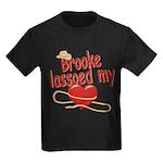 Brooke Lassoed My Heart Kids Dark T-Shirt