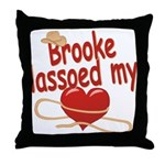 Brooke Lassoed My Heart Throw Pillow
