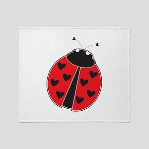 Lady Bug Throw Blanket