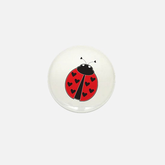 Lady Bug Mini Button