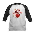 Caitlin Lassoed My Heart Kids Baseball Jersey