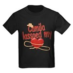 Camila Lassoed My Heart Kids Dark T-Shirt