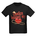 Candice Lassoed My Heart Kids Dark T-Shirt