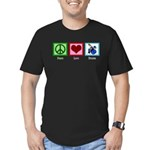 Peace Love Drums Men's Fitted T-Shirt (dark)