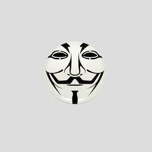 Anonymous Mask Mini Button