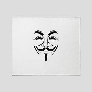 Anonymous Mask Throw Blanket