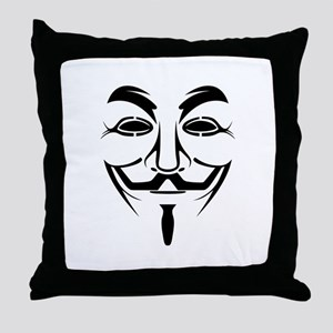 Anonymous Mask Throw Pillow