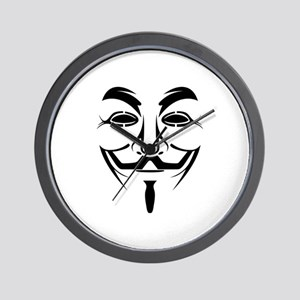 Anonymous Mask Wall Clock