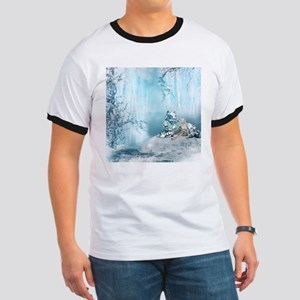 Wonderful snow tiger with fairy and bird T-Shirt
