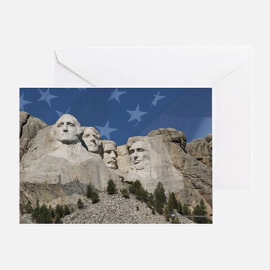 Patriotic Mt. Rushmore Greeting Card
