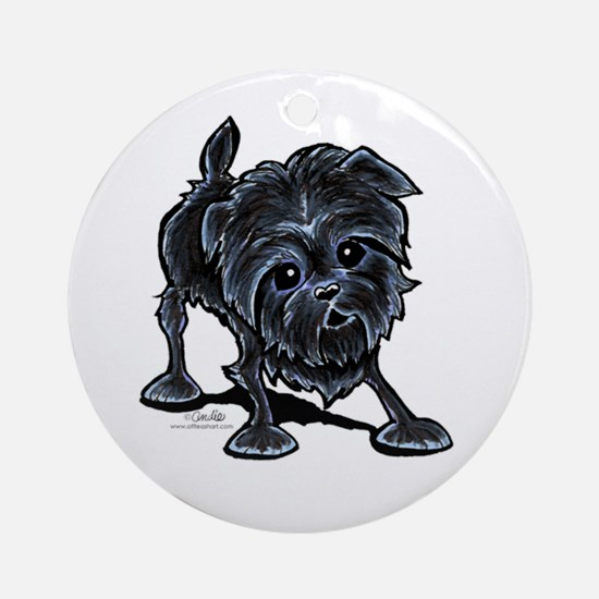 Affenpinscher Lover Ornament (Round)