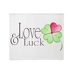 Love & Luck Throw Blanket