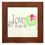 Love & Luck Framed Tile
