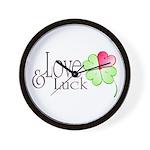Love & Luck Wall Clock