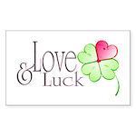 Love & Luck Sticker (Rectangle 50 pk)