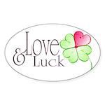 Love & Luck Sticker (Oval 10 pk)