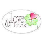Love & Luck Sticker (Oval)