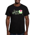 Love & Luck Men's Fitted T-Shirt (dark)
