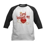 Carol Lassoed My Heart Kids Baseball Jersey