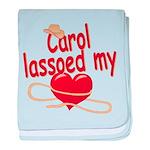 Carol Lassoed My Heart baby blanket
